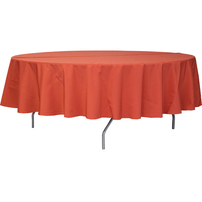 108 colored round polyester tablecloths for 108 round table cloth