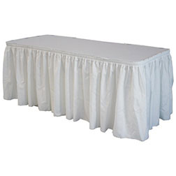 13' White Polyester Skirting