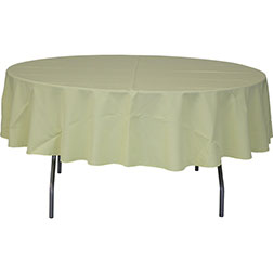 90'' Round Polyester Tablecloth