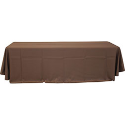 90'' x 132'' Polyester Tablecloth (Rounded Corners)