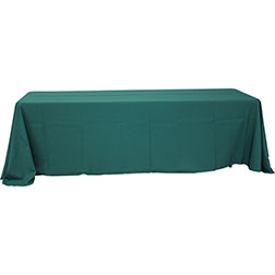 90'' x 156'' Polyester Tablecloth (Rounded Corners)