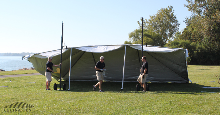 Get a Hand (or Hook) Installing Tents with the Frame Tent Jack & Celinau0027s Frame Tent Jack for Tent Installation
