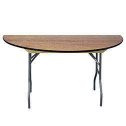 "60""  Semi Round Wood Table"