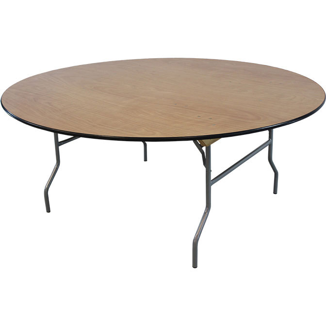 72 round wood tables for events and halls for Circular wooden table