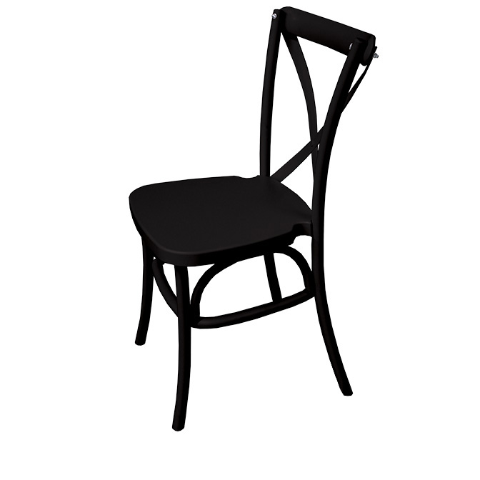 Awesome Black Dover Cross Back Chair