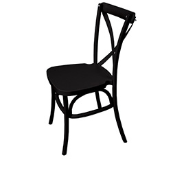 Black Dover Cross Back Chair