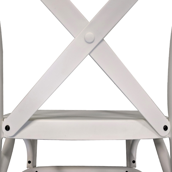 Dover Resin Cross Back Chairs For Formal Occasions