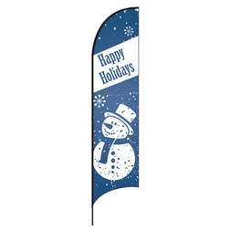 Happy Holidays (Snowman) Feather Flags