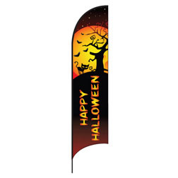 Happy Halloween Feather Flags