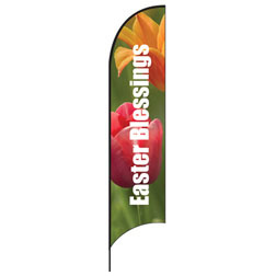 Easter Blessings Feather Flags