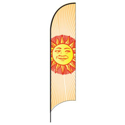 Summer Sun Feather Flags