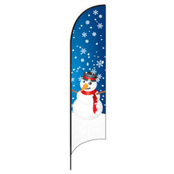 Winter Snowman Feather Flags