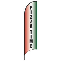 Pizza Time Feather Flags