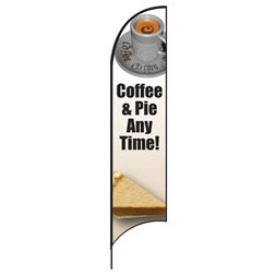 Coffee & Pie Feather Flags
