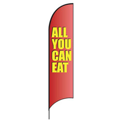 All You Can Eat (Red) Feather Flags