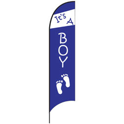 It's a Boy (Footprints) Feather Flags