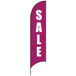 Sale (Purple) Feather Flags