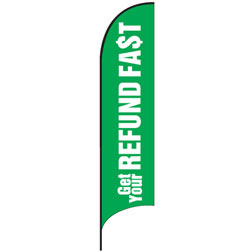 Refund Fast Feather Flags