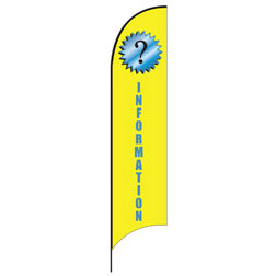 Information Feather Flags