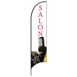 Salon (Comb) Feather Flags
