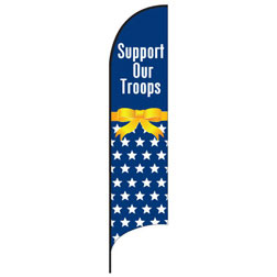 Support Our Troops (Stars) Feather Flags