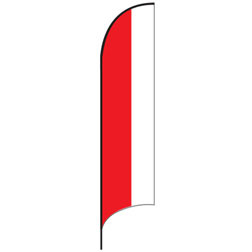 Red White Split Feather Flags