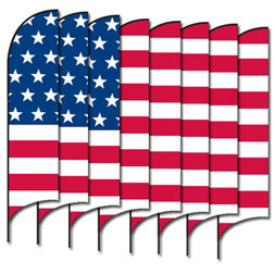 American Flag Group (8 Piece) Feather Flags