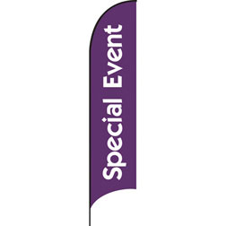 Special Event Purple Feather Flags