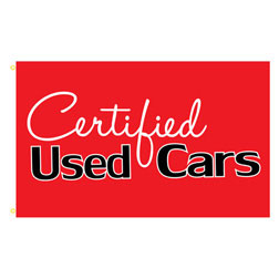 Certified Used Cars Rectangle Flags