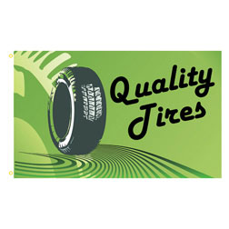 Quality Tires Rectangle Flags