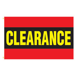 Clearance (Red) Rectangle Flags