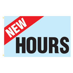 New Hours Rectangle Flags