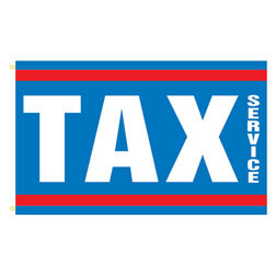 Tax Service Rectangle Flags