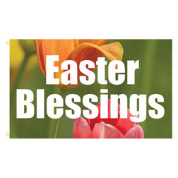 Easter Blessings Rectangle Flags