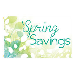 Spring Savings Rectangle Flags