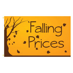 Falling Prices Rectangle Flags