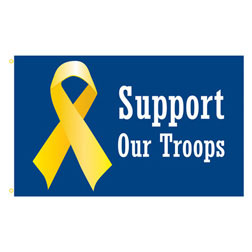 Support Ribbon Rectangle Flags