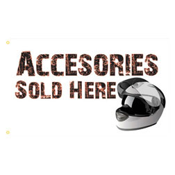 Accessories Sold Here Rectangle Flags