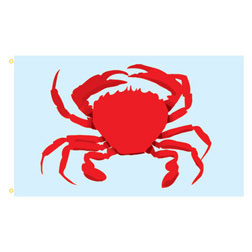 Crab Rectangle Flags
