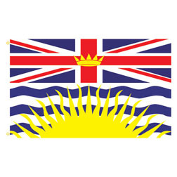 British Columbia Rectangle Flags