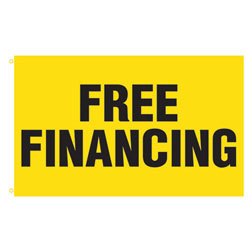 Free Financing Rectangle Flags