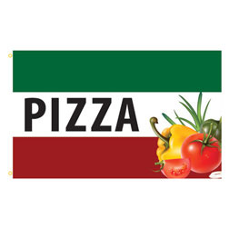 Pizza Vegetables Rectangle Flags