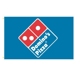 Domino's Pizza Rectangle Flags