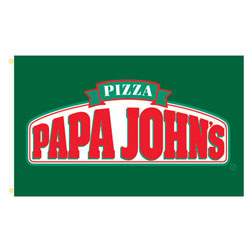 Papa John's Pizza Rectangle Flags