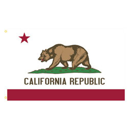 California Rectangle Flags