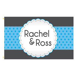 Ribbon Frame Rectangle Flags