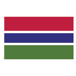Gambia Rectangle Flags
