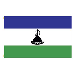Lesotho Rectangle Flags