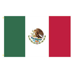 Mexico Rectangle Flags