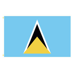 Saint Lucia Rectangle Flags